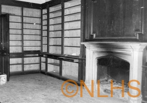 Library at Lyne House when unoccupied