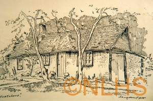 'Ratcatchers' at Dean Cottage, drawn by Langdon in 1938