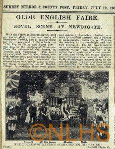 Newdigate Place Fete - 1907