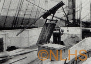 "An early Schermuly line-thrower aboard Sir Ernest Shackleton's ship ""Endurance"""