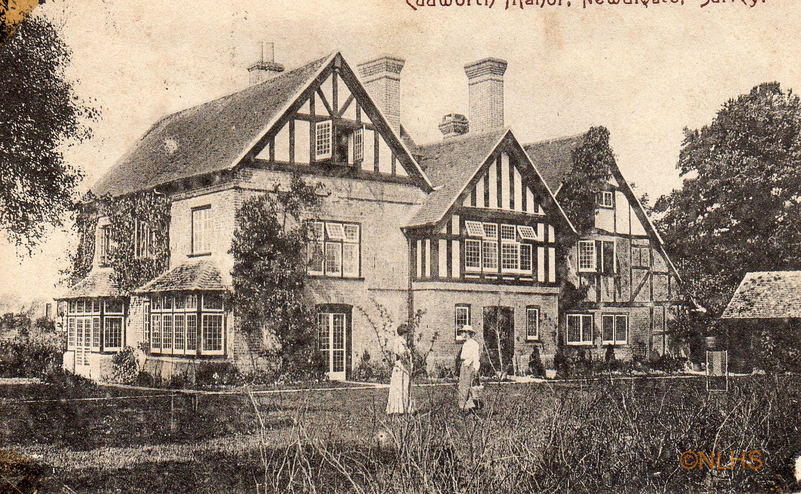 Cudworth Manor - 1 -Postmark 1904