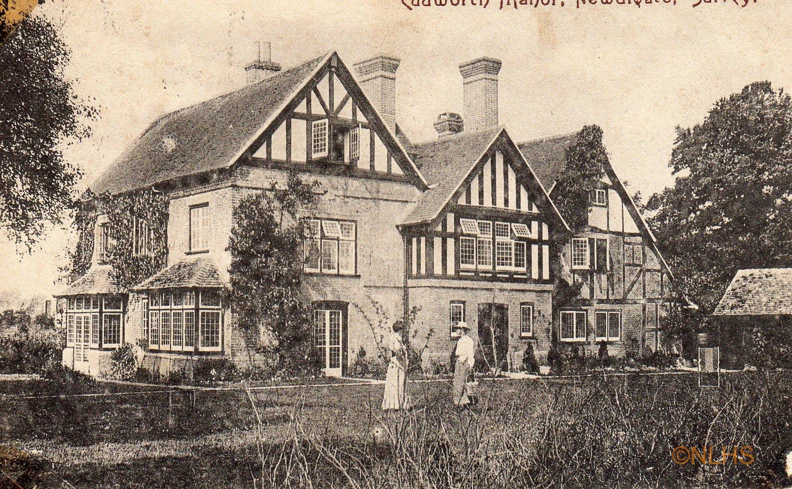 Cudworth Manor - 1 -Postmark 1904